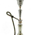 """Brand: Khalil Mamoon Size: 34"""" Tall Design: Ice Chamber Colors: Clear Glass Vase: Yes Country of Manufacture: Egypt"""